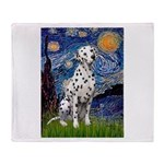 Starry / Dalmatian #1 Throw Blanket