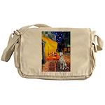 Cafe / Dalmatian #1 Messenger Bag