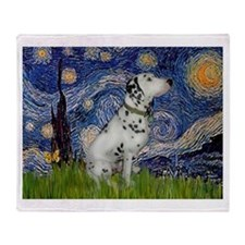 Starry Night / Dalmation Throw Blanket