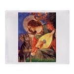 Mandolin Angel & Dobie Throw Blanket