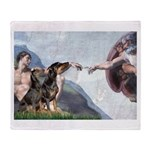 Creation / 2 Dobies Throw Blanket