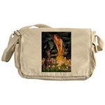 Fairies & Red Doberman Messenger Bag