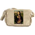 Mona's Red Doberman Messenger Bag