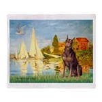 Regatta / Red Doberman Throw Blanket