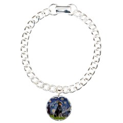 Starry Night Doberman Charm Bracelet, One Charm