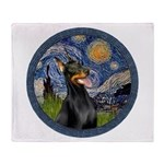 Starry Night Doberman (#1) Throw Blanket