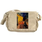 Cafe & Doberman Messenger Bag