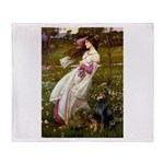 Windflowers / Doberman Throw Blanket