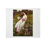 Windflowers / Dobie (#8) Throw Blanket