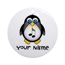 Customized Music Penguin Keepsake Ornament