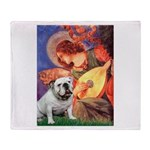 Mandolin Angel & English BD Throw Blanket