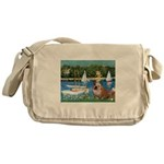 Sailboats /English Bulldog Messenger Bag