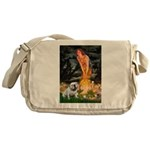 Fairies / English Bulldog Messenger Bag