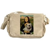 Mona's English Bulldog Messenger Bag