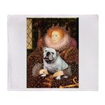 The Queen's English BUlldog Throw Blanket