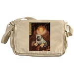 The Queen's English BUlldog Messenger Bag