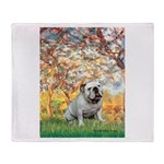 Spring/ English Bulldog (#9) Throw Blanket