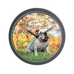 Spring/ English Bulldog (#9) Wall Clock