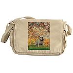 Spring/ English Bulldog (#9) Messenger Bag