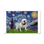 Starry Night English Bulldog Car Magnet 20 x 12