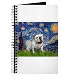 Starry Night English Bulldog Journal