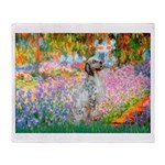 Garden / English Setter Throw Blanket