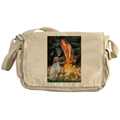 Fairies / English Setter Messenger Bag