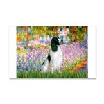 Monet's garden & Springer Car Magnet 20 x 12