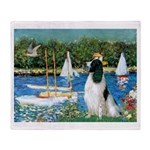 Sailboats / Eng Springer Throw Blanket