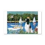 Sailboats / Eng Springer Car Magnet 20 x 12
