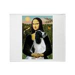 Mona Lisa/English Springer Throw Blanket