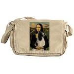 Mona Lisa/English Springer Messenger Bag