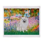 Garden / Eskimo Spitz #1 Throw Blanket