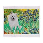 Irises / Eskimo Spitz #1 Throw Blanket