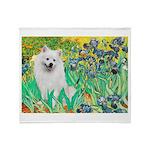 Irises / Eskimo Spitz #1 Throw Blanket