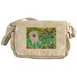 Irises / Eskimo Spitz #1 Messenger Bag