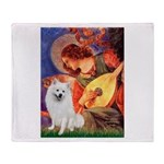 Mandolin / Eskimo Spitz #1 Throw Blanket