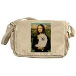 Mona / Eskimo Spitz #1 Messenger Bag