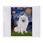 Starry / Eskimo Spitz #1 Throw Blanket