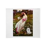 Windflowers / Eskimo Spitz #1 Throw Blanket