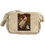 Windflowers / Eskimo Spitz #1 Messenger Bag