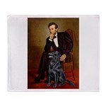 Lincoln / Flat Coated Retriev Throw Blanket