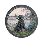 Flat Coated Retriever 2 Wall Clock