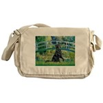 Flat Coated Retriever 2 Messenger Bag