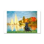 Sailboats / Flat Coated Retri Car Magnet 20 x 12