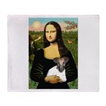Mona & Fox Terrier Throw Blanket