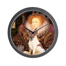 Queen/Fox Terrier (#S4) Wall Clock