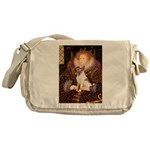 Queen/Fox Terrier (#S4) Messenger Bag