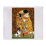 Kiss / Fox Terrier Throw Blanket