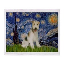 Starry / Fox Terrier (W) Throw Blanket